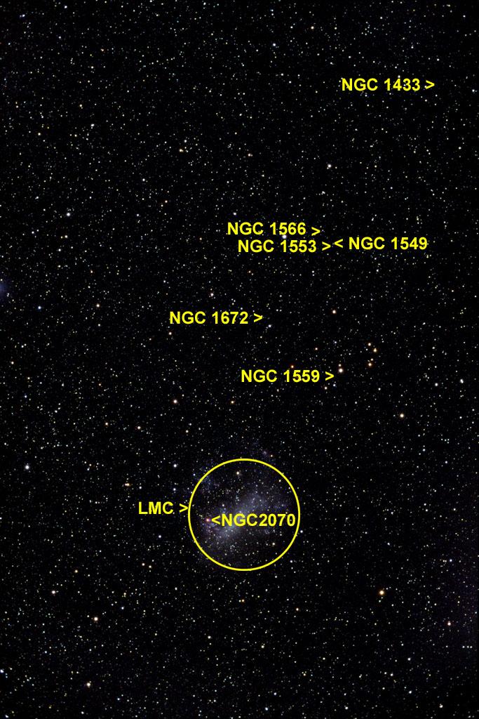 dorado mensa constellations digital images of the sky