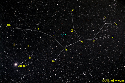 virgo vir constellation virginVirgo Constellation