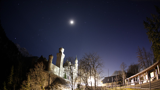 Download image Neuschwanstein Castle At Night PC, Android, iPhone and ...