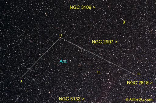 Antlia Constellations Digital Images Of The Sky