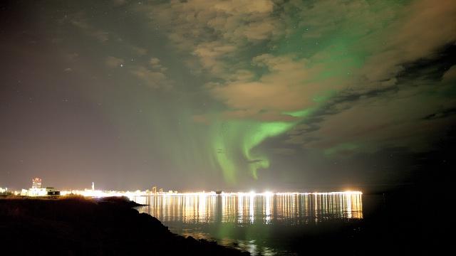 Aurora boreal Reykjavik, Iceland