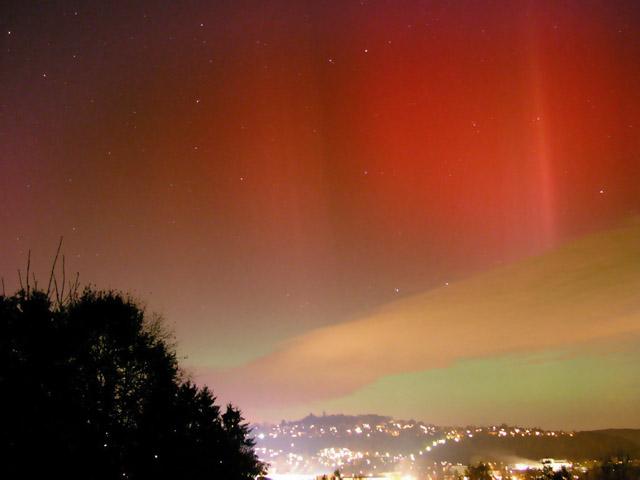 Aurora boreal, northern lights october 30, 2003